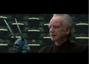 Senator Palpatine addressing the Senate