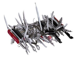 Giant Swiss Army Knife 2 pounds 11 ounces and 9 inches wide